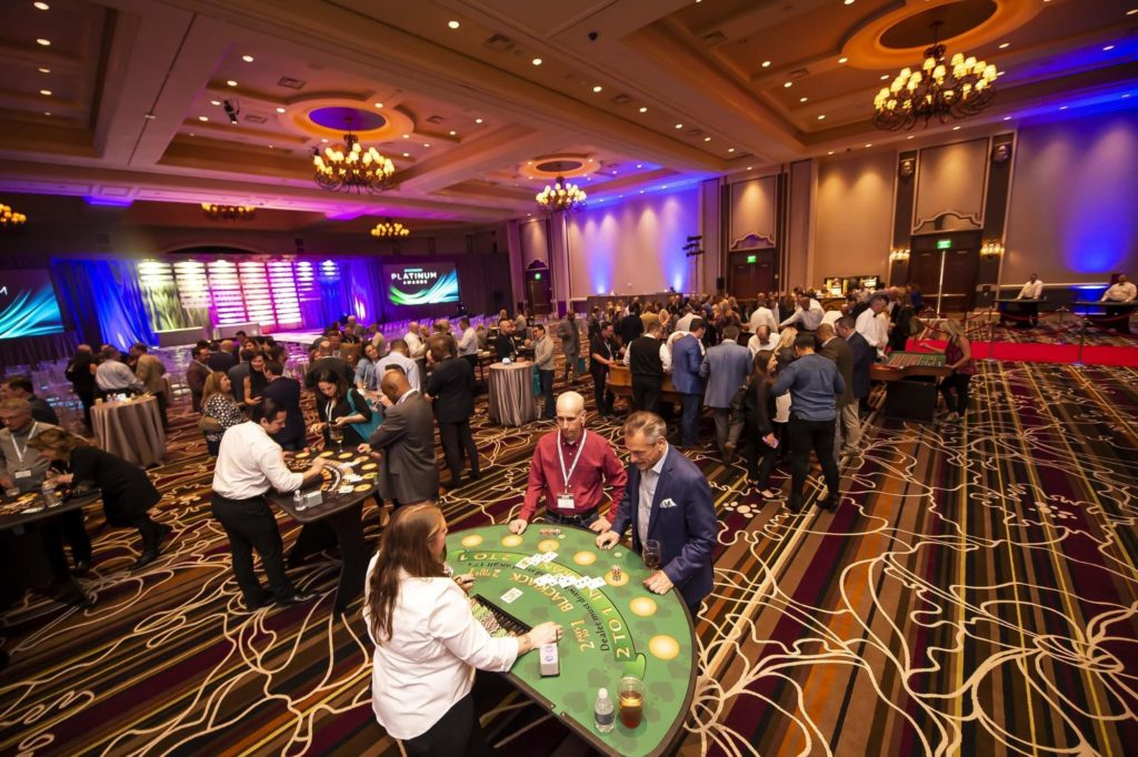Event Goers at a hotel-casino
