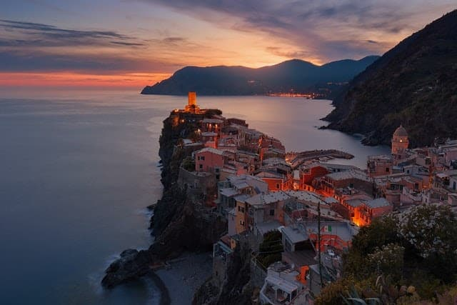 scenic view of a village in Italy