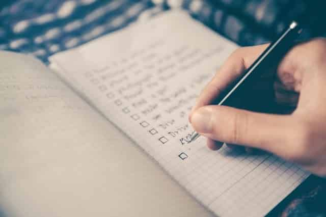 planning a to do list
